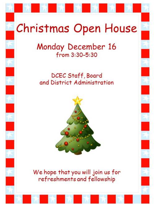 Christmas Open House 2013 (updated)