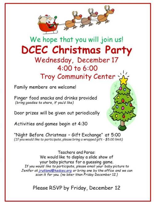 Christmas Party Invitation 2014