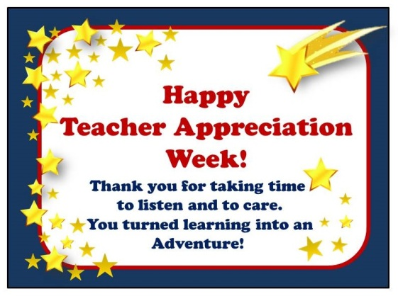 Teacher Appreciation Week 2016