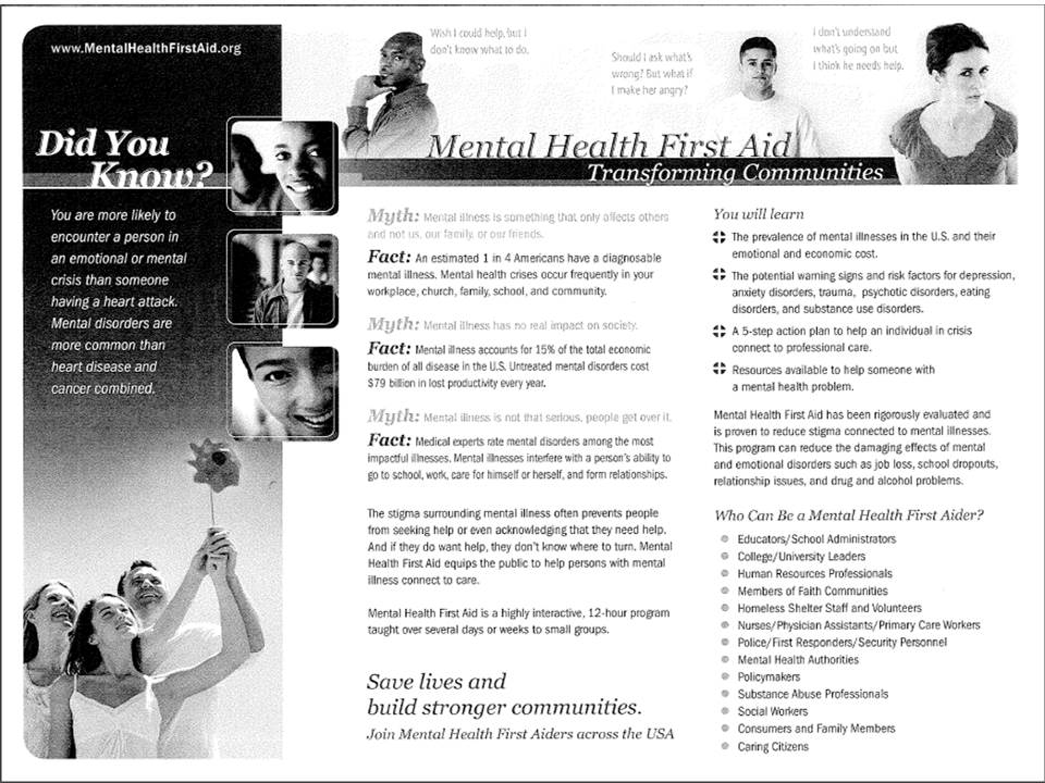 Mental Health First Aid Doniphan County Education Cooperative 616