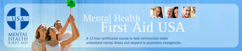 Mental Health First Aid USA color logo