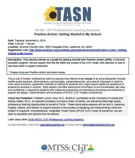 TASN - Positive Action - Getting Started in My School